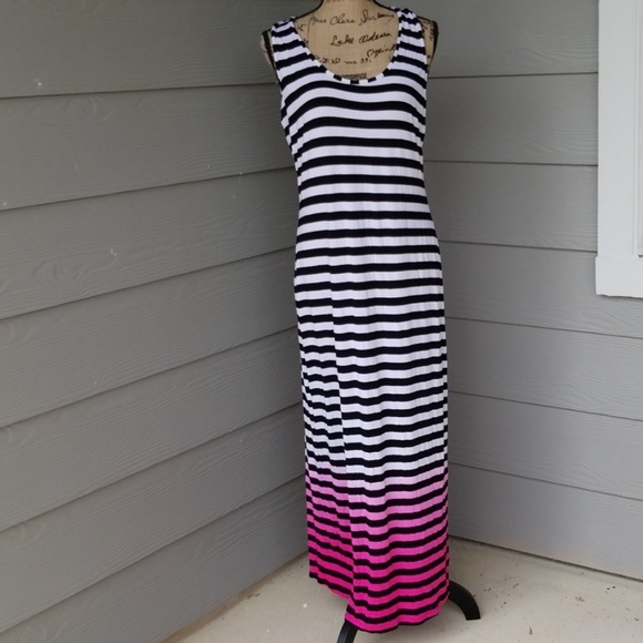 458d50edf3 Nicole by Nicole Miller Dresses | Black Pink And White Maxi Dress ...